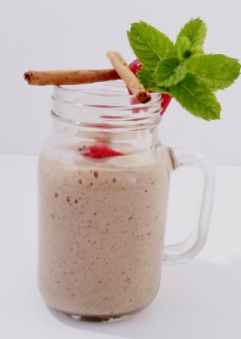 Strawberry and Cin Protein Shake